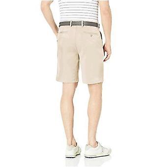 Essentials Men's Standard Classic-Fit Stretch Golf Short, Stone, 34