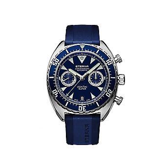 Luxury Eterna KonTiki Chronograph Black watch for Unisex 777041891395