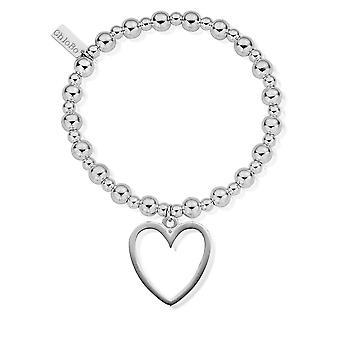 ChloBo Mini Small Ball Open Heart Bracelet SBMSB033