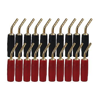20x Gold Plated Speaker Banana Plugs 2mm Speaker Wire Pin Connectors