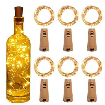 Wine Bottle String Led With Cork Battery For Party, Wedding, Christmas,