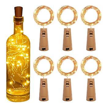 Corda bottiglia di vino led con batteria di sughero per festa, matrimonio, Natale,