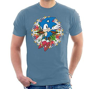 Sonic The Hedgehog Knuckles And Tails Montage Men's Camiseta