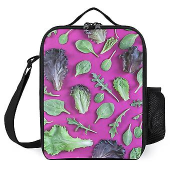 Lettuce Greens On Purple Printed Lunch Bags