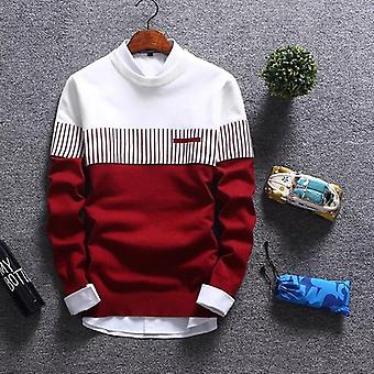 Autumn/winter Pullover Wool Slim Fit Striped Knitted Sweaterss Clothing
