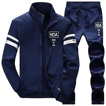 Kausal Trainingsanzüge Männer Set Kapuzen verdickten Fleece Hoodies + Sweatpant Winter