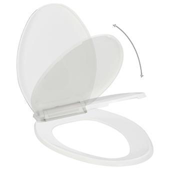 Wc-bril met automatische downsing en quick release design White