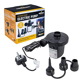 Milestone AC Electric Camping Air Pump 240V Black
