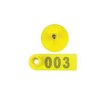 100 Pcs Cattle Ear Livestock Numbered Mini Tags
