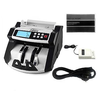 Automatic Multi-currency Cash, Banknote, Money Bill Counting Machine With Lcd