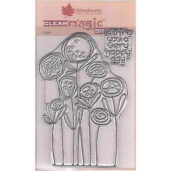 Woodware Clear Singles Circle Kukat 4 x 6 leimana