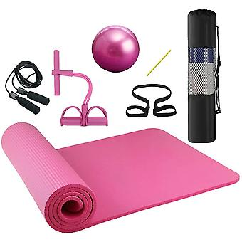 Lixada Yoga Exercise Kit 4pcs Yoga Mat Set for Home Gym