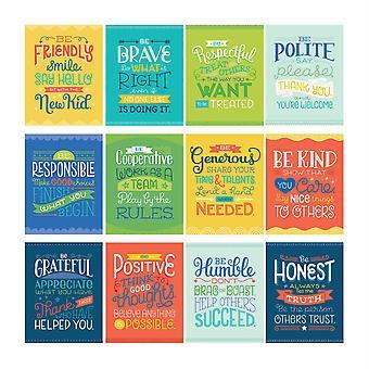 Mini Posters: Positive Character Traits Poster Set, 12 Pièces