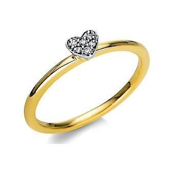 Luna Creation Promessa Ring Illusion 1T805GW854-2 - Largura do anel: 54