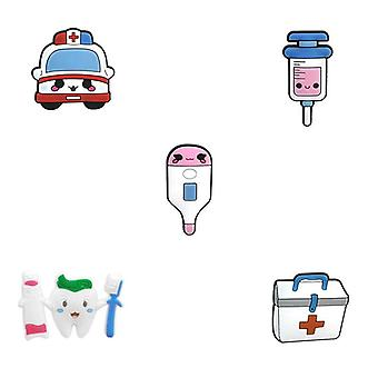 Pvc Croc Charms Designer Medical Accessories Stethoscope/syringe/pills Croc