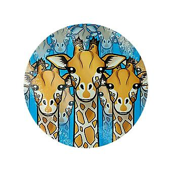 Grindstore Giraffe Tribe Glass Chopping Board