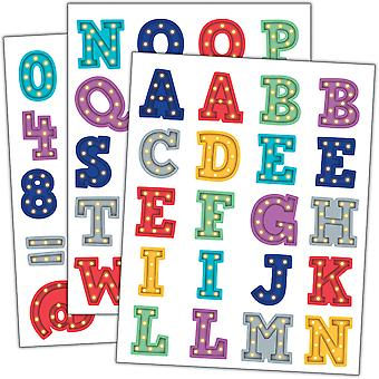 Pegatinas del alfabeto de marquesina