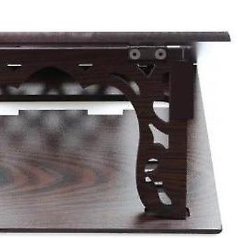 Aito työpöytä veistetty taitettava tabletti Lecterns Wenge