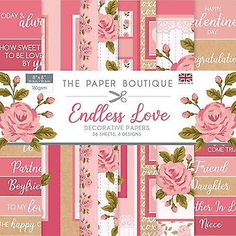 The Paper Boutique - Endless Love Collection - 8x8 Embellishments Pad