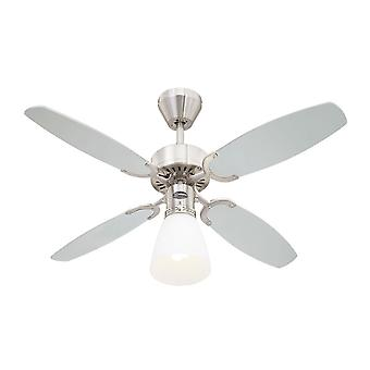 Westinghouse Ceiling Fan Capitol Brushed Steel