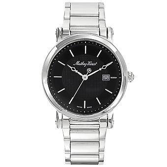 Mathey Tissot Men's City Metal Black Dial Watch - H611251MAN