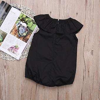 Casual Ruffles, Black Romper, Jumpsuit Outfit Sunsuit