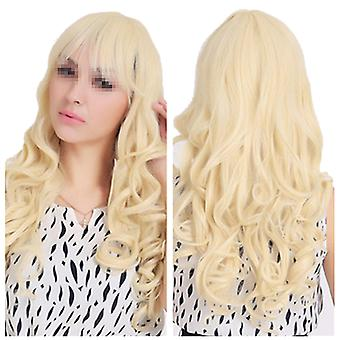 Wig Long Curled Hair Cap
