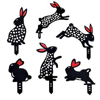 Garden lawn decorative ornaments rabbit insert card J02