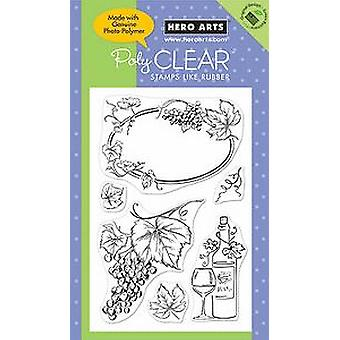 Hero Arts Artistic Grapes 4x6 Clear Stamps