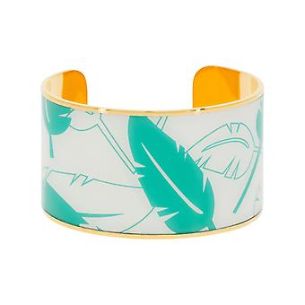 Manchet armband 'apos;PAPEETE'apos; emailmullticolore gouden afwerking