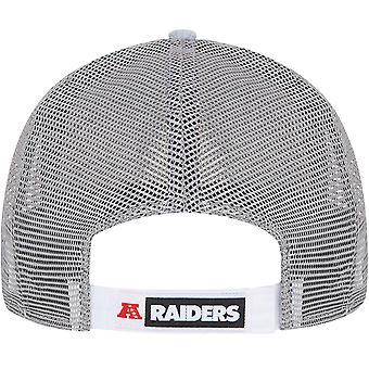 New Era Adults Las Vegas Raiders Home Field 9Forty Trucker Cap Hat - Grey