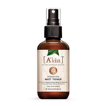 A'kin Hydrating Mist Toner Natural Australian Skin Care Face Skin & Body 150ml