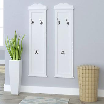 vidaXL wardrobe panel 2 pcs. white