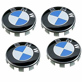 BMW Blue Wheel Center Cap Hub Badge 68mm 4 PCS For 13 5 7 Series, X6, M3, Z4, E46, E90