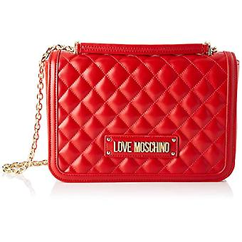 Love Moschino Bag Quilted Nappa Pu Shoulder Strap Woman, (Red), 6x19x28 cm (W x H x L)