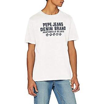 Pepe Jeans Ben T-Shirt, Ivory (Mousse 808), Unique (Size Manufacturer: X-SMA L L) Men's