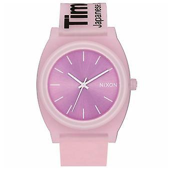 Nixon Tiempo de las mujeres Teller Reloj de esfera rosa - A119-3170