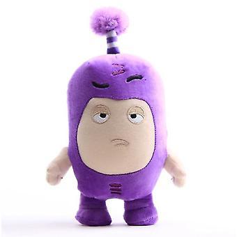 Muñeca de juguete de peluche oddbods púrpura de 18 cm, muñeca de anime de dibujos animados con ricos emoticonos