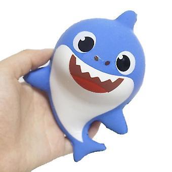 Blue pu slow rebound toy shark baby squishy children decompression vent x5012