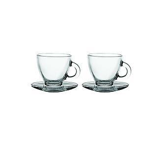 Rayware Entertain Cappuccino Cup & Saucer Set de 2