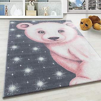 Tappeto per bambini SAMY tappeto camera per bambini modello di orso polare