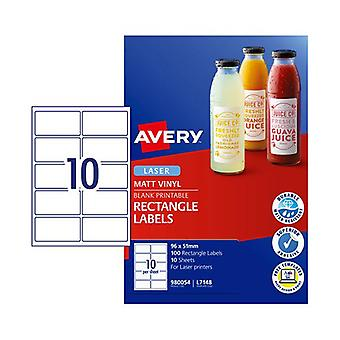 Avery Laser Label Rectangle L7148 10Up Pack Of 100