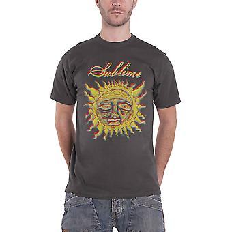 Sublime T Shirt Yellow Sun Band Logo new Official Mens Charcoal Grey