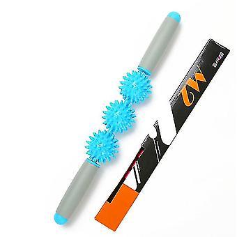 Restore Massage Stick Pressure Point Muscle Massage Roller(Blue)