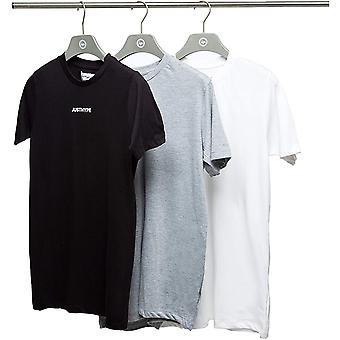 Hype Heren Monotone T-Shirt (Pakket van 3)