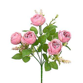 Artificial Rose Bouquet Rose Camellia Artificial Flower Artificial Flower Decorative Flower(Pink)
