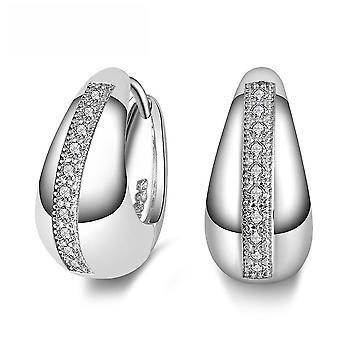 Loose Diamond Earrings Silver Electroplated Super Flash Zircon Eardrops For Exhibition