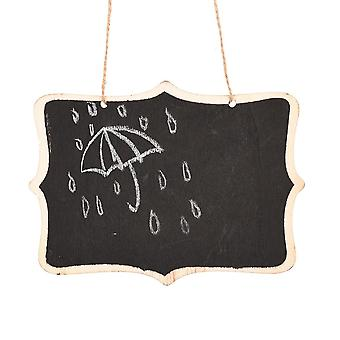 Wooden Wall-mount Black Board With Rope