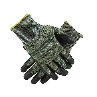 Cow Leather Durable Anti Cut Gloves Safe Gardening Wedling Gloves
