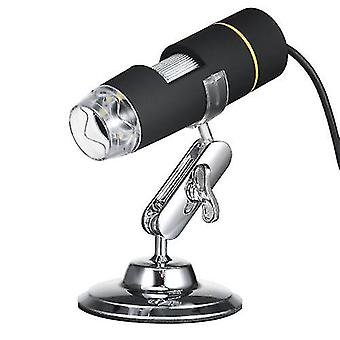 1000X Magnification USB Digital Microscope with OTG Function Endoscope 8-LED Light Magnifying Glass